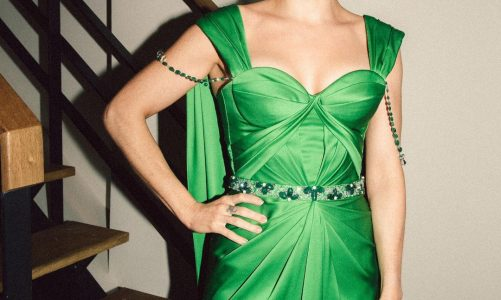Ellie Goulding Green Dress