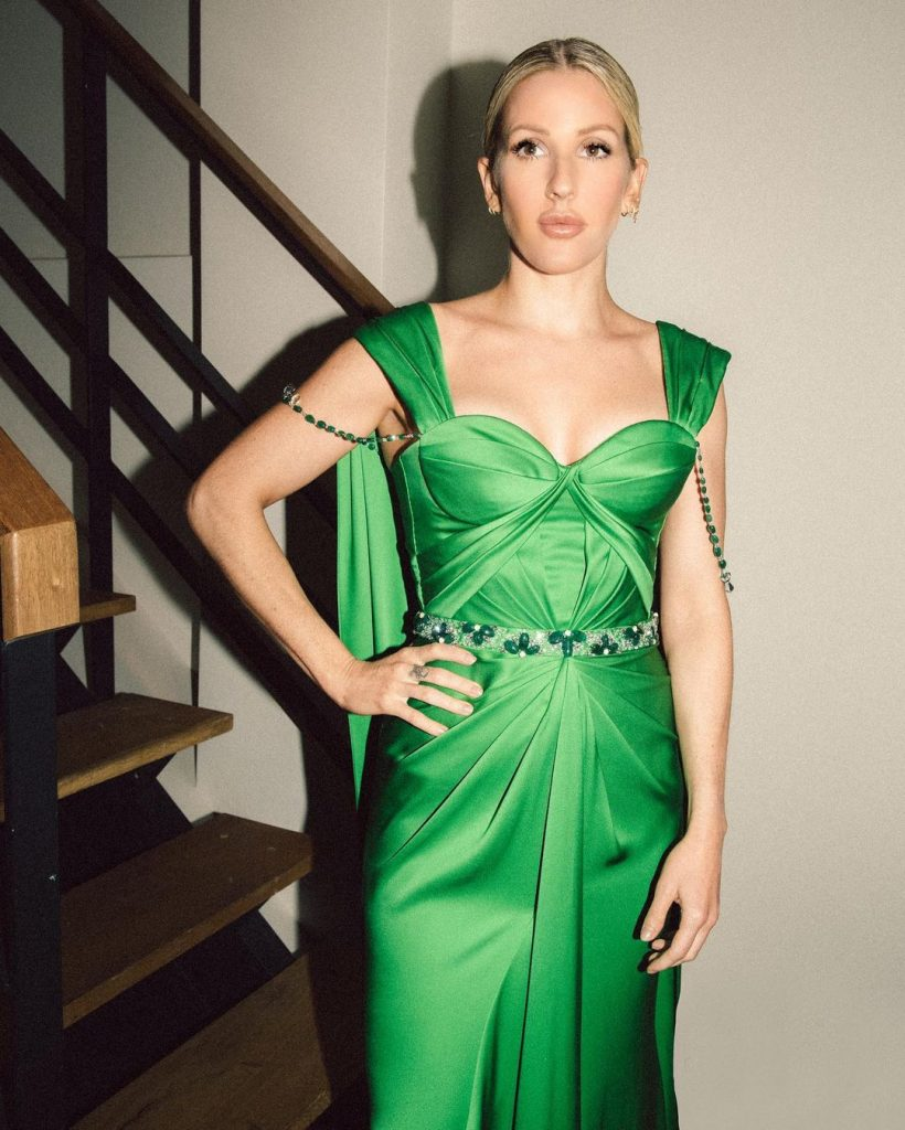 Ellie Goulding Green Dress (1)