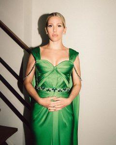 Ellie Goulding Green Dress (2)