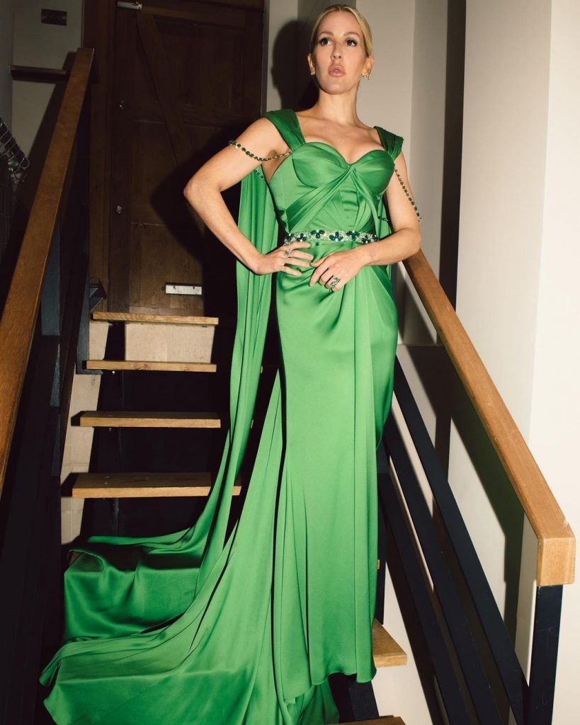 Ellie Goulding Green Dress (3)