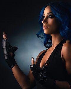 New Sasha Banks Undertaker Photoshoot Pics (3)