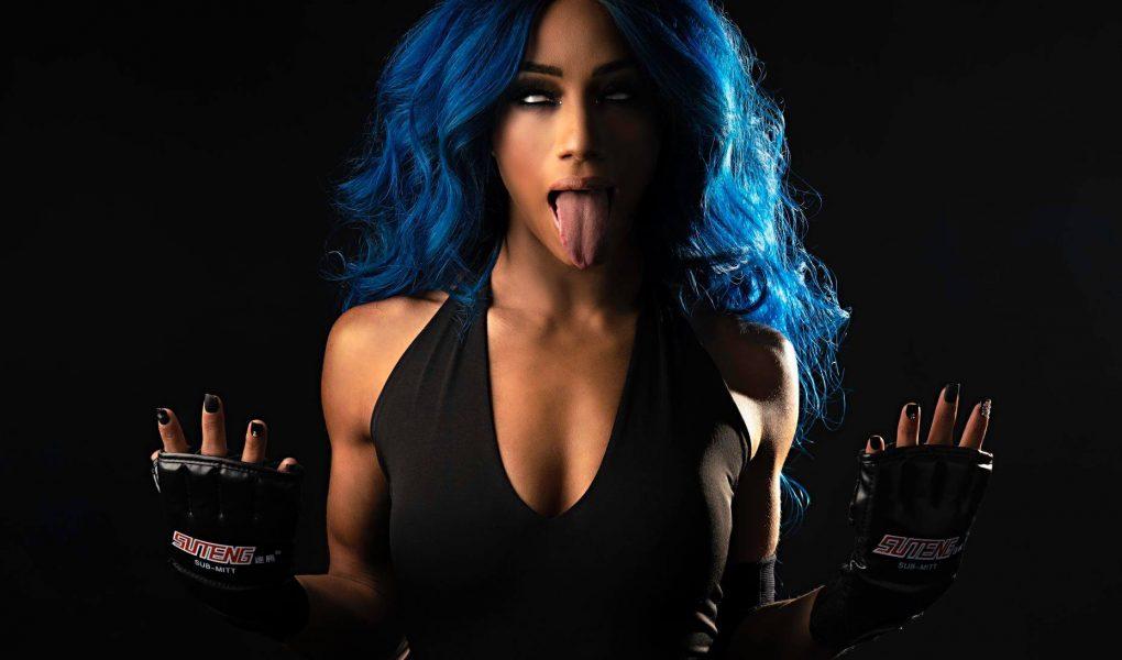 Sasha Banks WWE Undertaker Photoshoot (6)